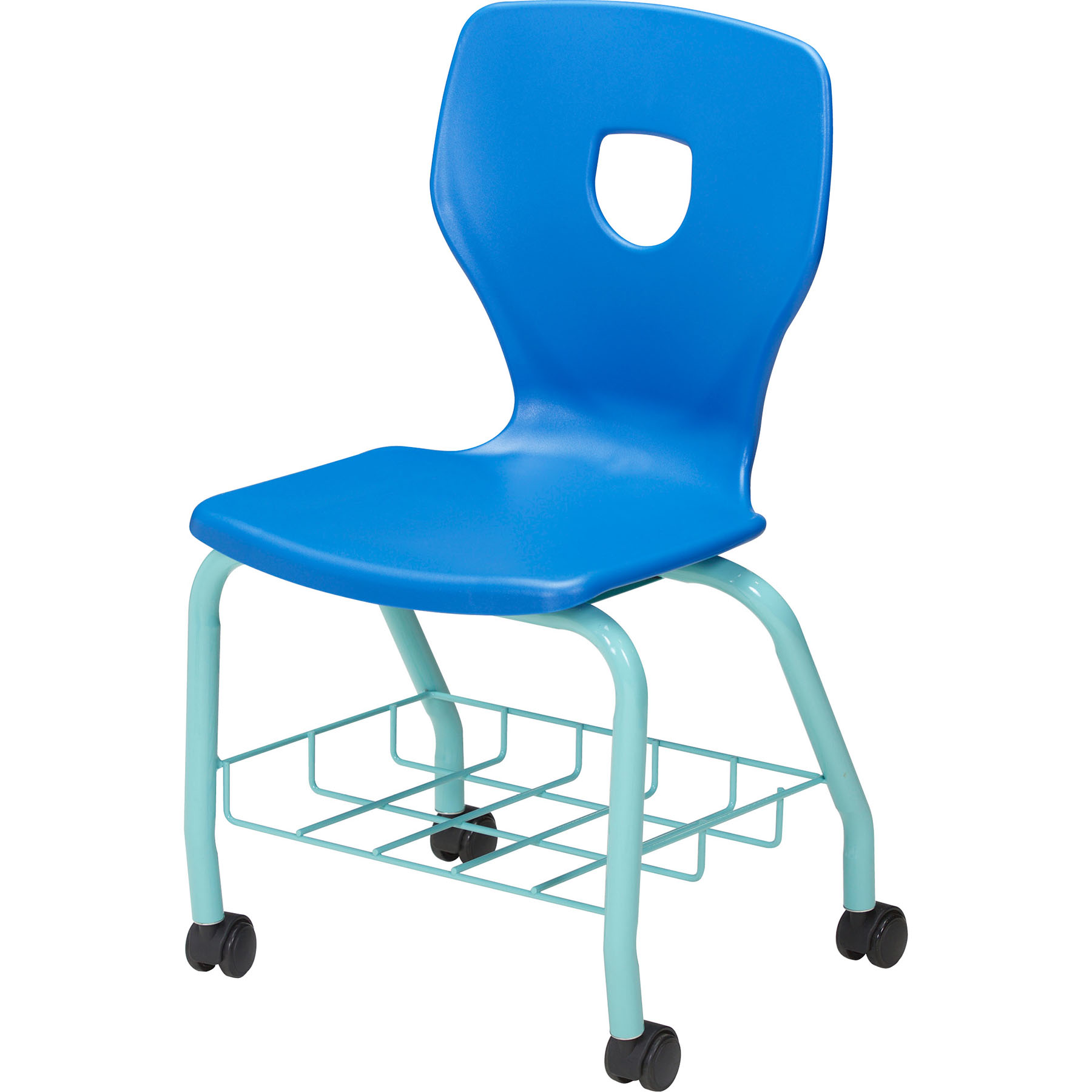 Silhoflex book basket chair with casters
