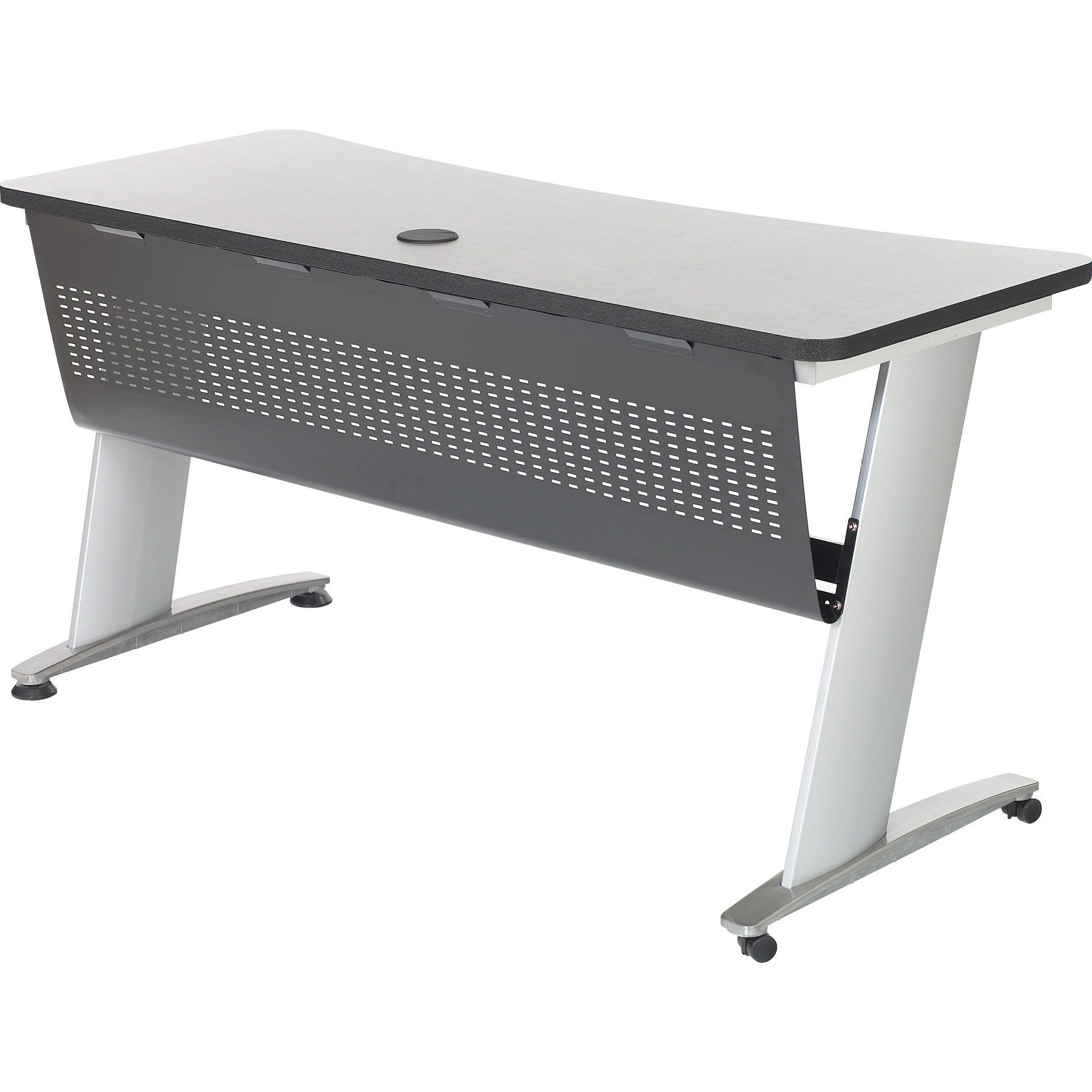 6153 Computer Table with modesty panel