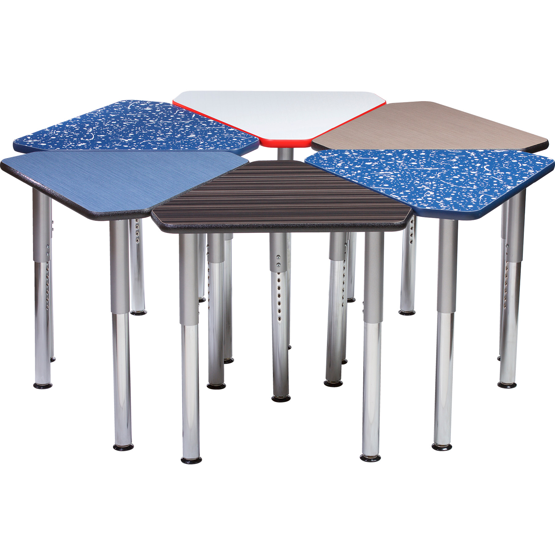 6450 Puzzle Diamond Hexagon tables with Galaxy legs