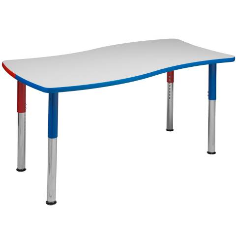 6380 Wave Table with Galaxy Legs