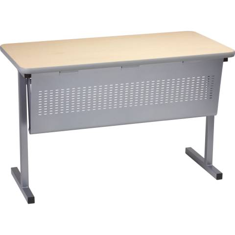 T-Leg training table with optional modesty panel.