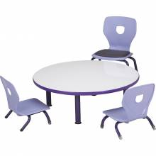 Galaxy Floor table with Silhoflex floor chairs and teacher's chair