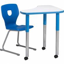 Tricorner Galaxy MDF Desk with Silhoflex Chair