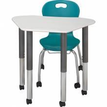 Hexagon Galaxy Desk with Omnia mobile chair