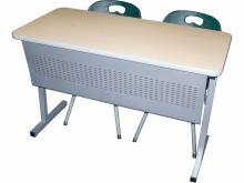3983 Omnia Desk with modesty panel