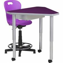Large Diamond Table with Omnia Computer Chair
