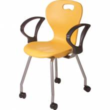 2898 Omnia Teachers Chair Mobile with armrest